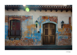 Heritage Facade of a House in Antigua, Guatemala
