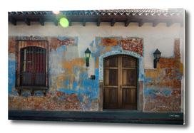 Heritage Facade of a House in Antigua, Guatemala