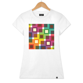 Geometric Pattern #11 (Colorful squares)