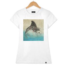 shark fin TATTOO