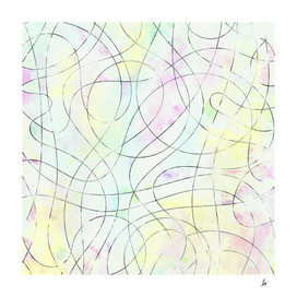 Pale Abstract Drawing