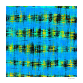 plaid pattern abstract texture in blue yellow black