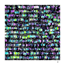 Crazy Funky-Colored Experimental Pattern