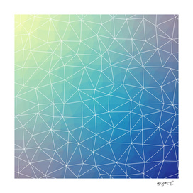 Abstract Blue Geometric Triangulated Design