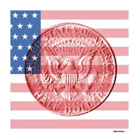 USA - Half Dollar 1964 - Back