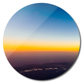 Aerial Photo Of Ocean Sunset Over Island
