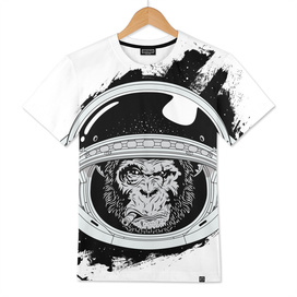 Space Monkey Black and white edition