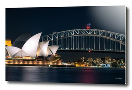 Iconic View of Sydney at Night