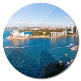 View of Sydney Harbour from above