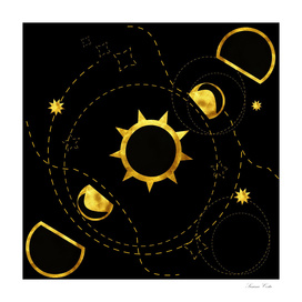 solar eclipse black