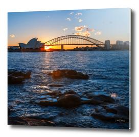 Sun-star at Sydney Opera House, Australia