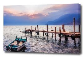 Gorgeous sunset on Lake Atitlan, Guatemala