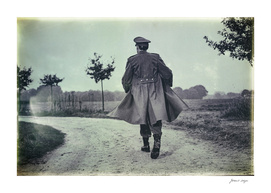Old black and white photo of 1940s military officer.