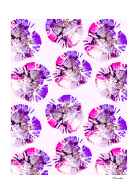 Abstract pattern of purple circular shapes