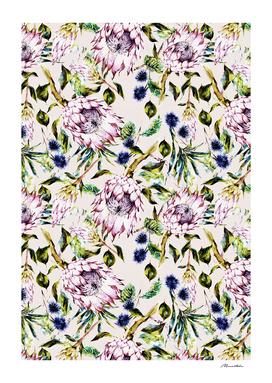 Pattern boho floral purple