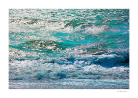 blue ocean wave texture abstract background