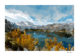 June Lake in Sierra Nevade Range of California