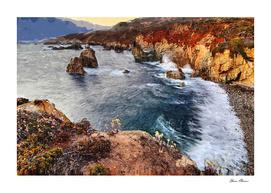 Pacific Coastline and Mountains Monterrey California