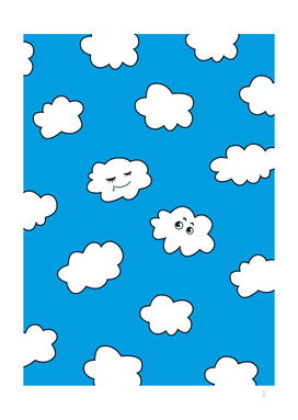 Blue Sky Happy Funny Clouds