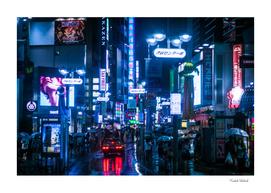 Shibuyascapes - Rainy night at Shibuya center-gai