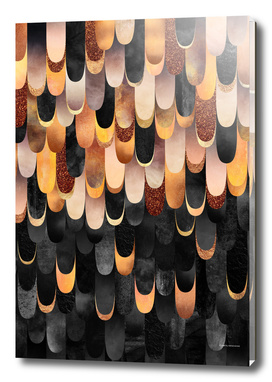 Feathered - Copper And Black