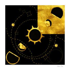 solar eclipse gold