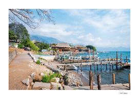 Panajacel Docks on the shore of Lake Atitlan in Guatemala