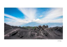 Panoramic View from the base of Volcano Pacaya, Guatemala