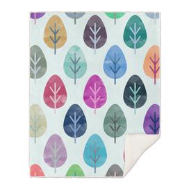 Watercolor Forest Pattern III
