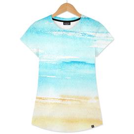 Sunny beach    watercolor