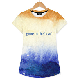 Gone to the beach    watercolor