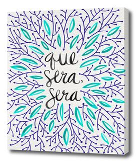 Que Sera Sera (Navy/Turquoise)