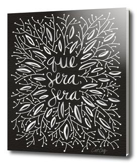 Que Sera Sera Floral (Black/White)