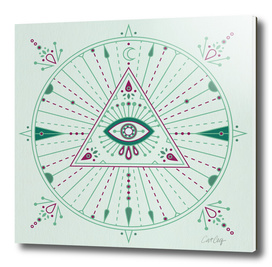 Green Evil Eye Mandala