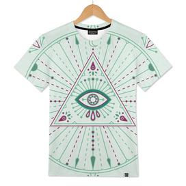 Green Evil Eye Mandala