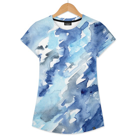 Watercolor madness in blue