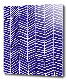 Herringbone (Navy/White)