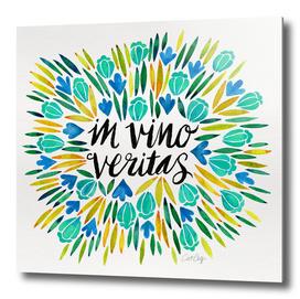 In Vino Veritas (Blue/Yellow)