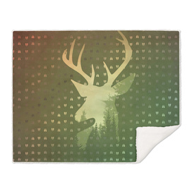 Golden Deer Abstract Footprints Landscape Design