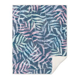 Watercolor Tropical Palm Leaves VII