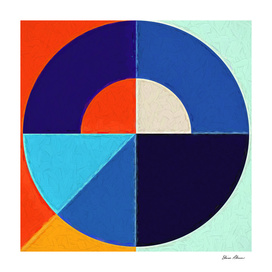 Geometric Pattern 8 Impasto Painting