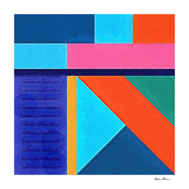 Geometric Pattern 10 Impasto Painting