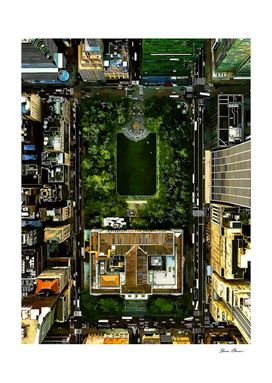 Birds Eye View Bryant Park Manhattan NYC