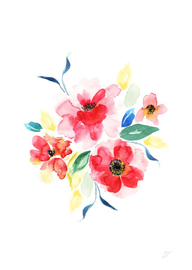 Watercolour Floral Art Print