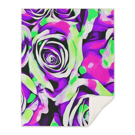 pink purple and green roses texture abstract background