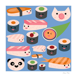 KAWAII sushi blue
