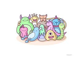 Monster Family Photo