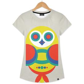 Multicolor Geometric Owl