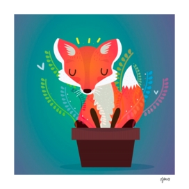 The fox in the pot