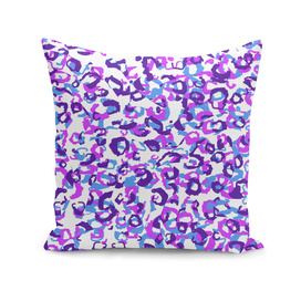 Blue pink and purple leopard abstract